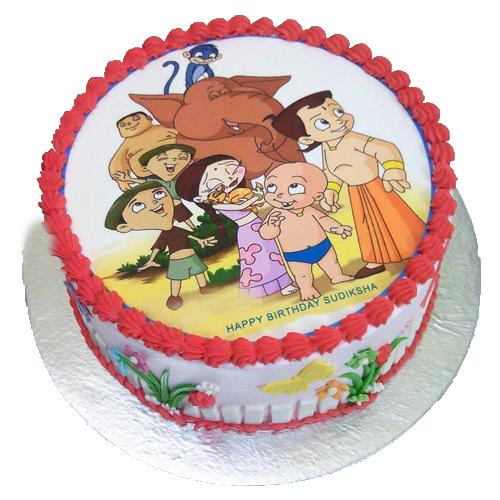 Chota Bheem Photo Cake