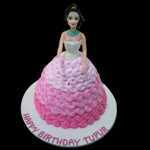 Birthday Barbie Doll Cake Online Free Home Delivery Yummycake