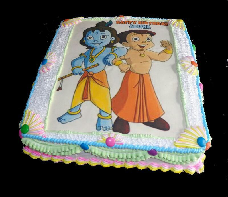 Chota Bheem Images For Birthday Cake : Edible Photo cake Yummycake