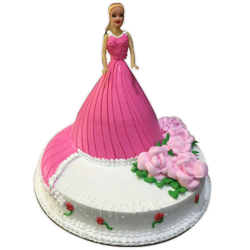 Order Barbie Doll Cake Online Beautiful Design Yummycake