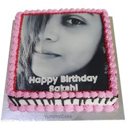 Birthday Cake with Photo and Name
