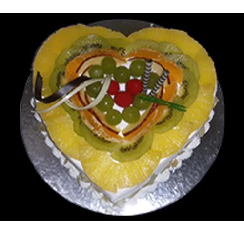 Heart Shape Fruit Cake Online Free Home Delivery Yummycake
