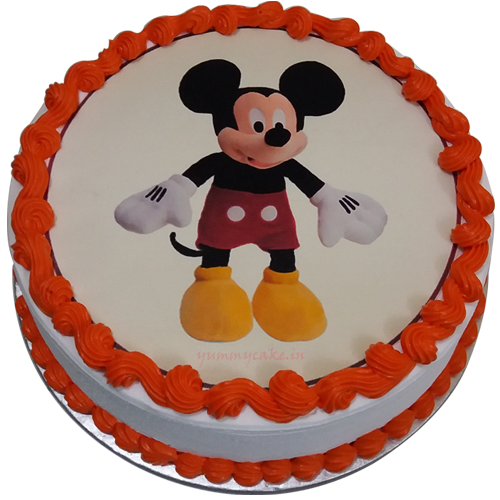 Cake Animated Pic : Order For Mickey Mouse Cartoon Cake From Yummycake