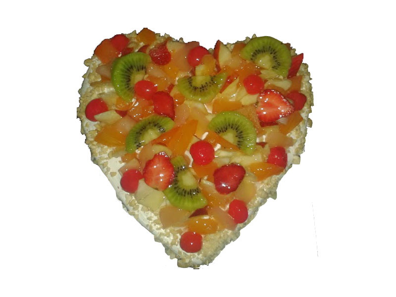 Order Heart Shape Fruit cake From Yummycake at Best price