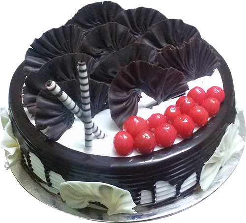 Half Kg Black Forest Cake Online Free Home Delivery Yummycake
