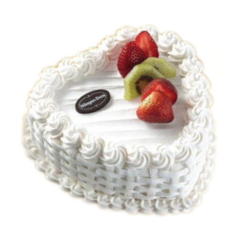 1 Kg Heart Shaped Vanilla Cake Online Best Design