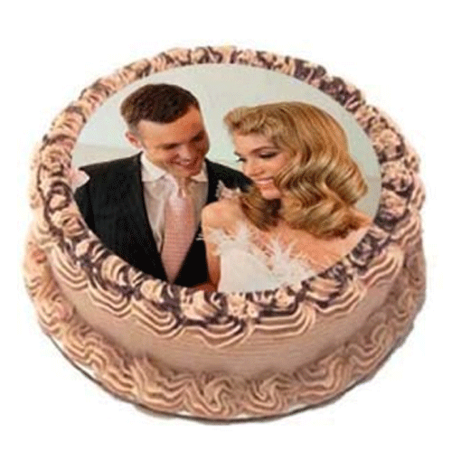 Beautiful Couple Photo Cake