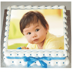 Birthday Cake with Photo Cake