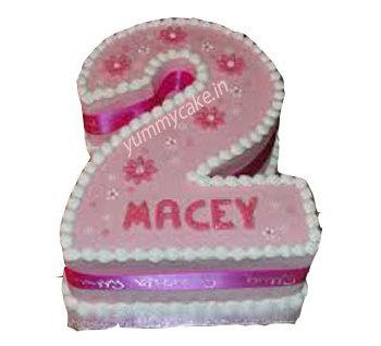 2 Years Birthday Cake