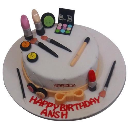 Makeup Birthday Cake Online