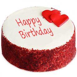 Red Velvet Fondant Cake