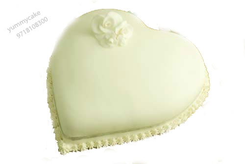Heart Shape Anniversary Cake 1kg