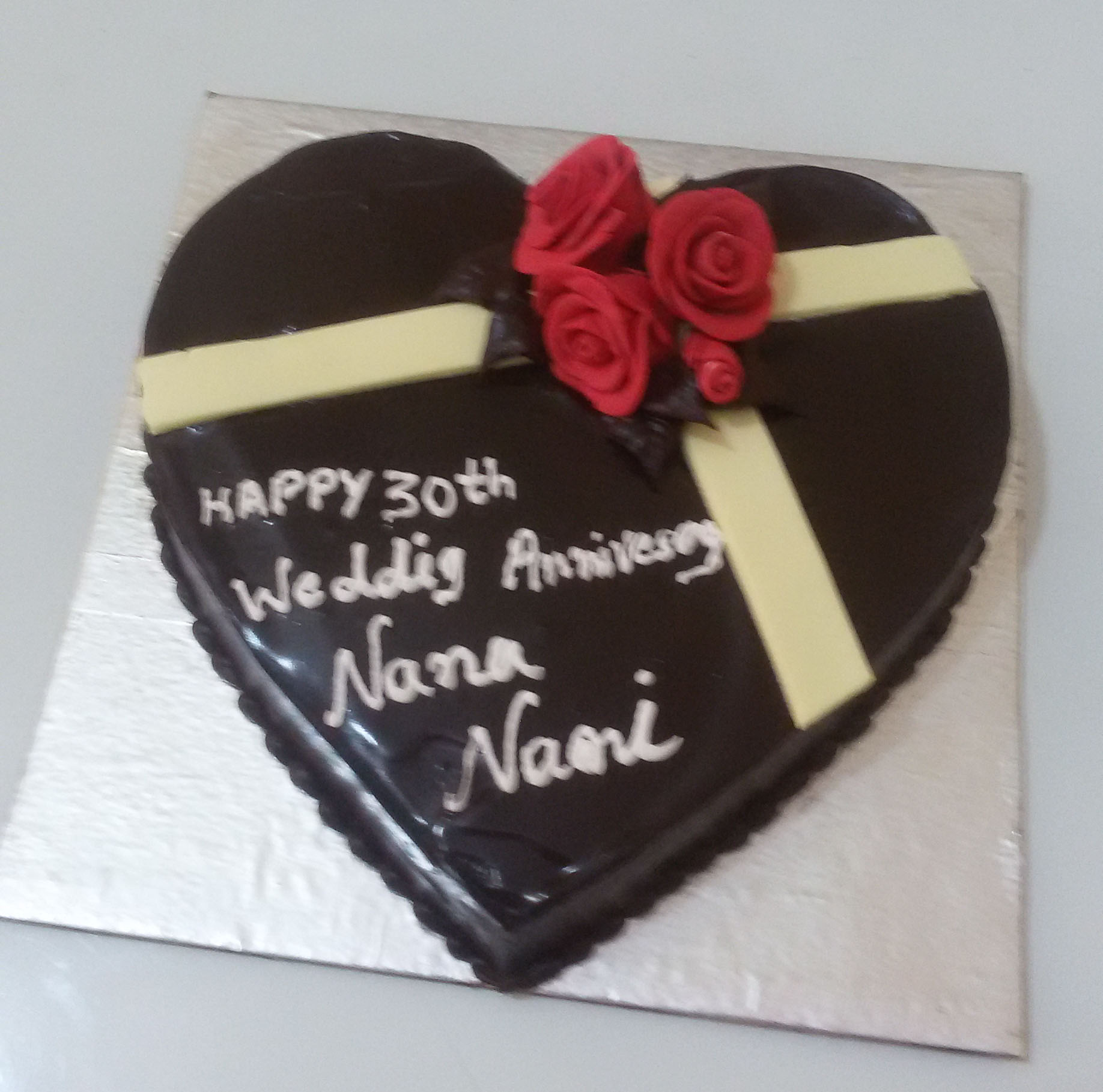 Heart Chocolate Cake Images : Order 1 Kg Heart Shape Chocolate Cake Yummycake