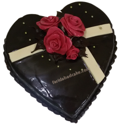1 Kg Heart Shape Chocolate Cake
