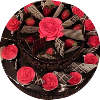 Chocolate strawberries  Fruit Cake