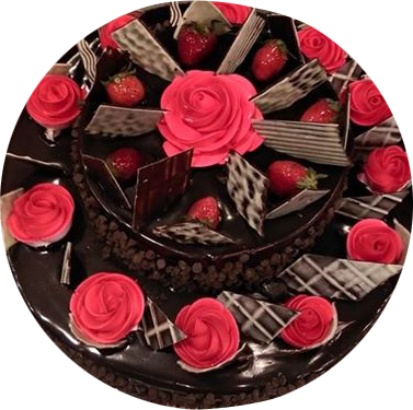 Chocolate strawberries  Fruit Cake