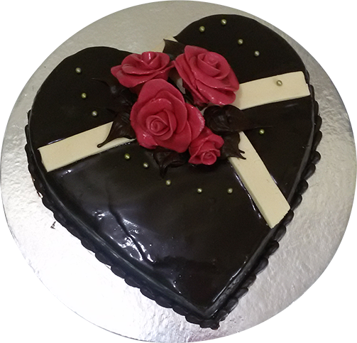 Order 1 Kg Heart Shape Chocolate Cake Yummycake
