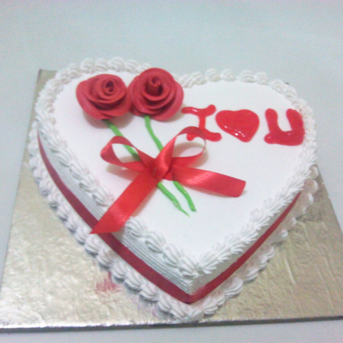 Order For Heart Shape Anniversary cake From Yummycake