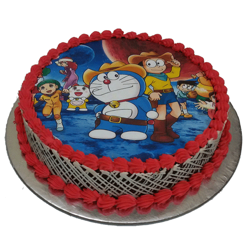 Cartoon Photo Cake Online