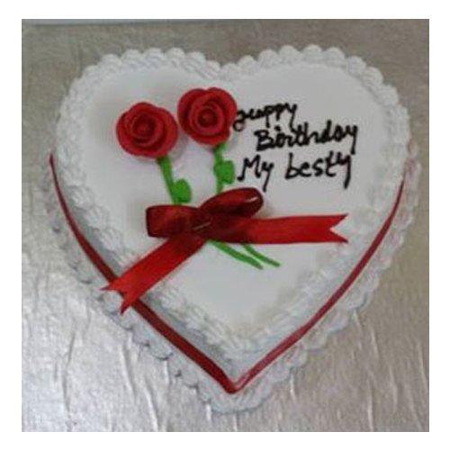 Heart Shape Vanilla Cake 1 KG