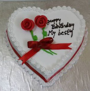 Heart Shaped Anniversary Cake Images : Order Heart Shape Vanilla Cake 1 KG From Yummycake