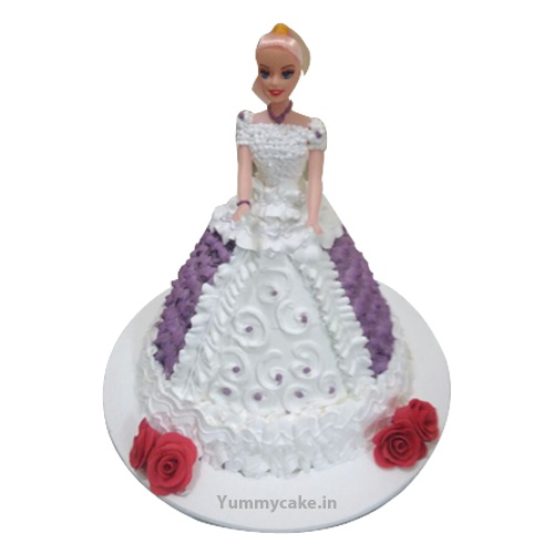Princess Barbie Doll Cake Online Beautiful Design Yummycake