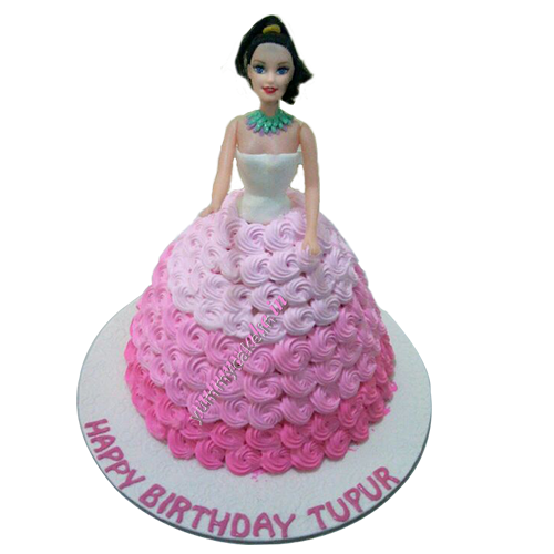 princes Barbie doll cake