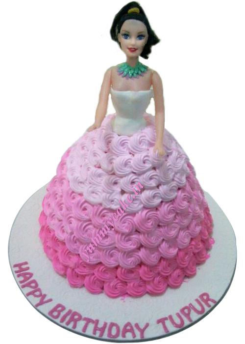 Order Online Barbie Doll Cake In Delhi Faridabad And