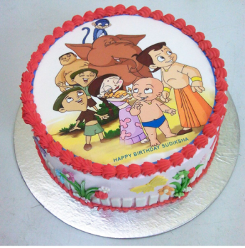 Chhota Bheem Cartoon Cake