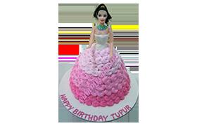 Online Princess Barbie Doll Cake