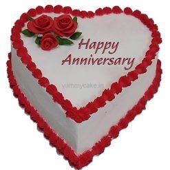 Anniversary Heart Shape Cake