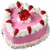 Heart-shape Strawberry Cake