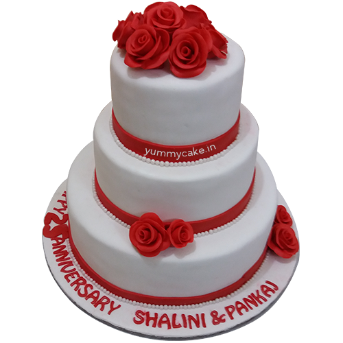 Anniversary Cake Online In 5 Kg Beautiful Design Yummycake