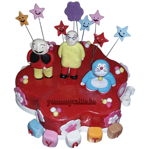 Motu Patlu Images For Birthday Cake : Motu Patlu Cake, Motu Patlu Cake Design YummyCake