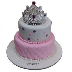 Crown Fondant Cake