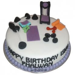 Gym Cake, Gym Birthday Cake