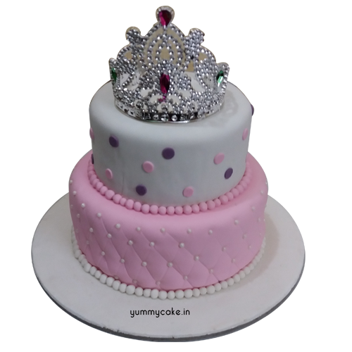 Crown Fondant Cake Online Best Designs Yummycake