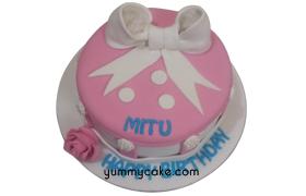 Round Bow Cake