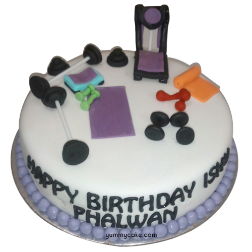 Birthday Cake Images Gym ~ Gym cake birthday theme yummycake