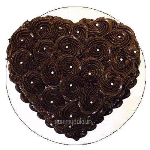 Heart Shaped Chocolate Cake