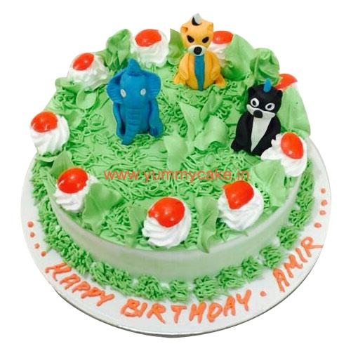 Cake With Photo Order : Order Jungle Cake & Jungle Birthday Cake Yummycake