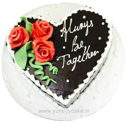 Heart Shaped Chocolate Cake Design : Book Your Order Heart Shaped Cake Online from YummyCake