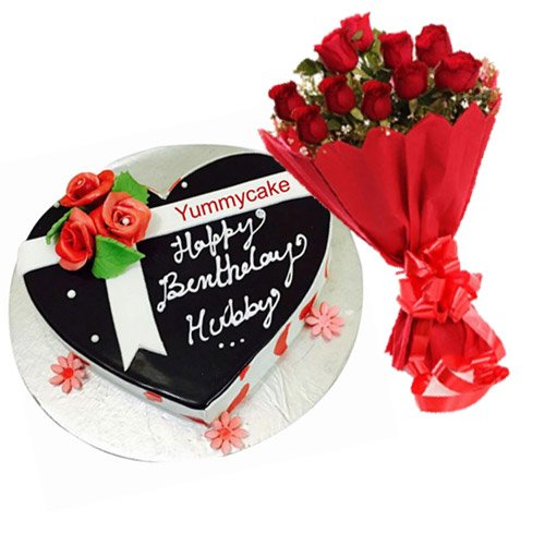Heart Shaped Birthday Cake Online
