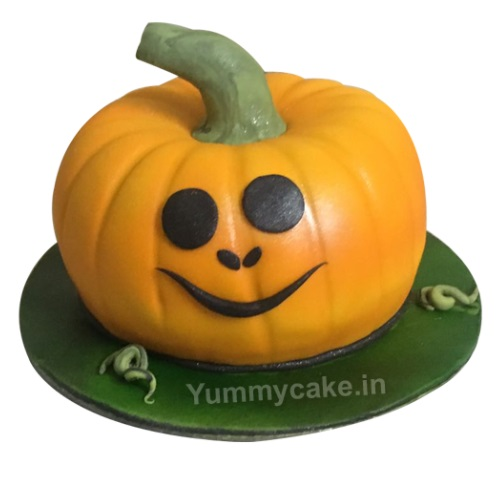 Remarkable Pumpkin Cake Online In Best Design Cheap Price Yummycake Personalised Birthday Cards Beptaeletsinfo