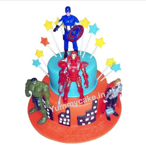Avengers Birthday Cake Avengers Cake Ideas Yummycake