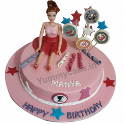 Barbie Doll Birthday Cake