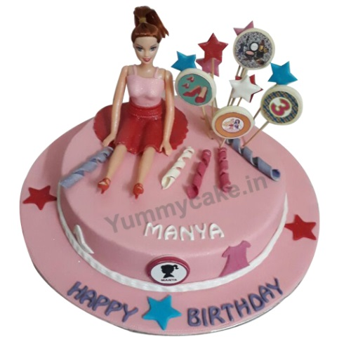 Order Barbie Doll Birthday Cake Online 100 Eggless Yummycake