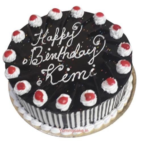 Black Forest Birthday Cake Online Free Delivery Yummycake