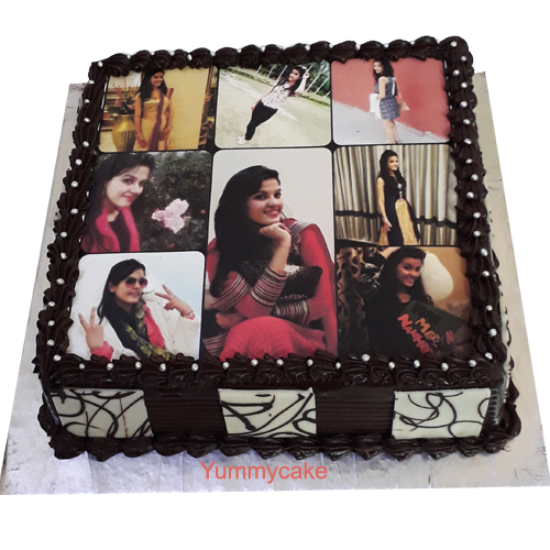 photo birthday cake for girls