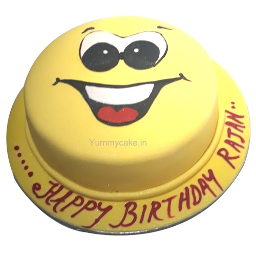 Smiley Face Birthday Cakes Online Cheap Price Yummycake